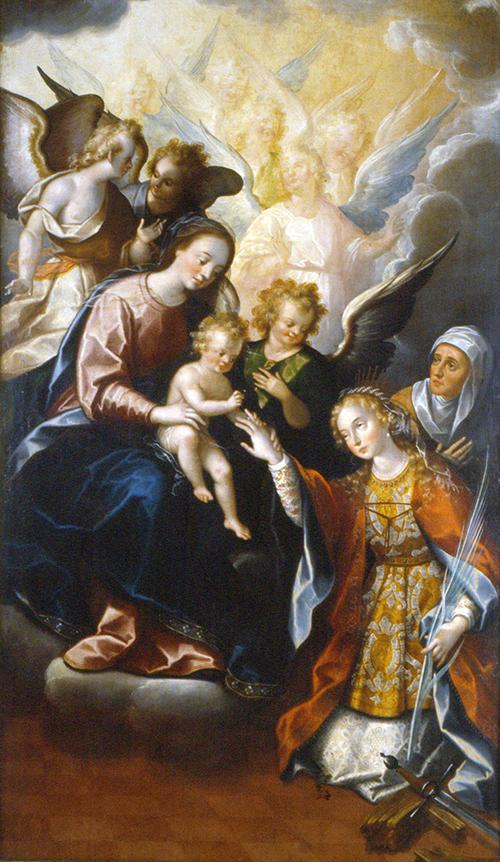 Imagen de El Matrimonio Místico de Santa Catalina de Alejandría