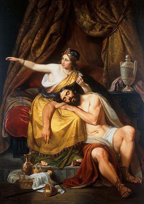 Imagen de Dalila Llama a los Filisteos para entregarles a Sansón