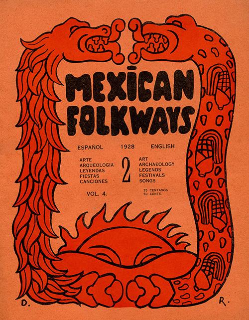 Imagen de Mexican Folkways. Mexico City. Toor, Frances Editor. Rivera, Diego art Editor. No. 2 Vol. 4.