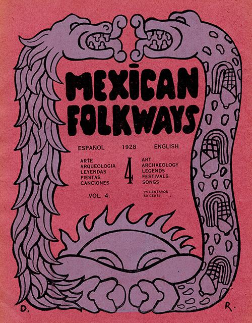 Imagen de Mexican Folkways. Mexico City. Toor, Frances Editor. Rivera, Diego art Editor. No. 4 Vol. 4.