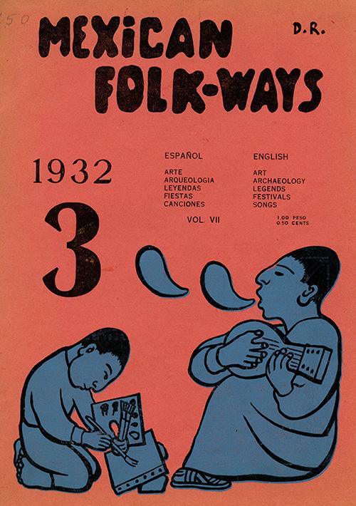 Imagen de Mexican Folkways. Mexico City. Toor, Frances Editor. Rivera, Diego art Editor. No. 3 Vol. 7.