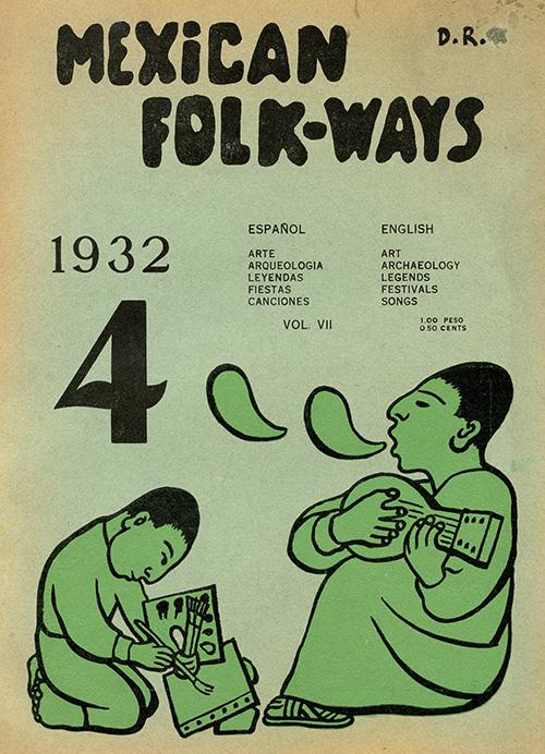 Imagen de Mexican Folkways. Mexico City. Toor, Frances Editor. Rivera, Diego art Editor. No. 4 Vol. 7.