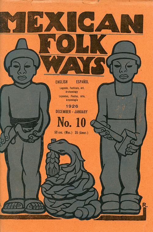 Imagen de Mexican Folkways. Mexico City. Toor, Frances Editor. Rivera, Diego art Editor. No. 5 Vol. 2.