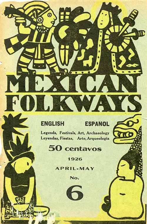Imagen de Mexican Folkways. Mexico City. Toor, Frances Editor. Rivera, Diego art Editor. No. 1 Vol. 2.