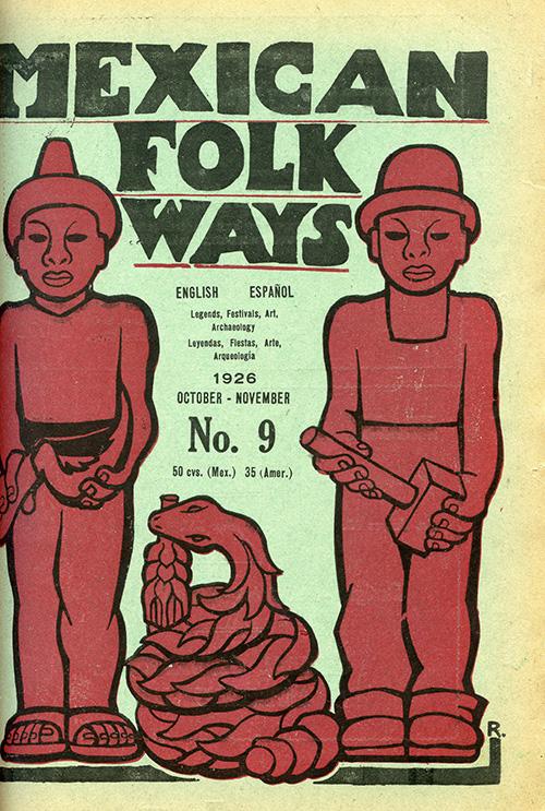 Imagen de Mexican Folkways. Mexico City. Toor, Frances Editor. Rivera, Diego art Editor. No. 4 Vol. 2