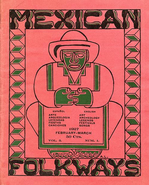 Imagen de Mexican Folkways. Mexico City. Toor, Frances Editor. Rivera, Diego art Editor. No. 1 Vol. 3.