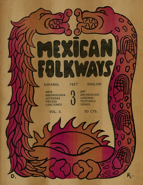 Imagen de Mexican Folkways. Mexico City. Toor, Frances Editor. Rivera, Diego art Editor. No. 3. Vol. 3