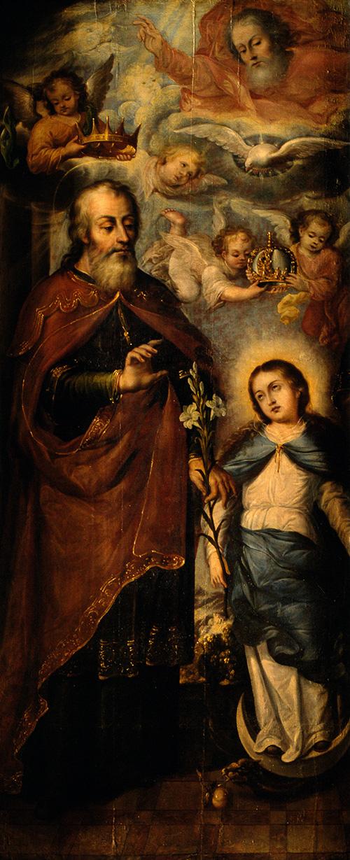 Imagen de Santa Ana, San Joaquín y la Virgen Niña (Fragmento)