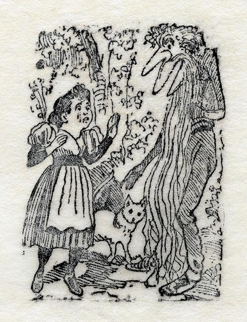 Imagen de Monstruo con Barba asustando niña