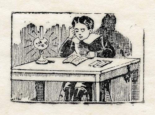 Imagen de Niño estudiando