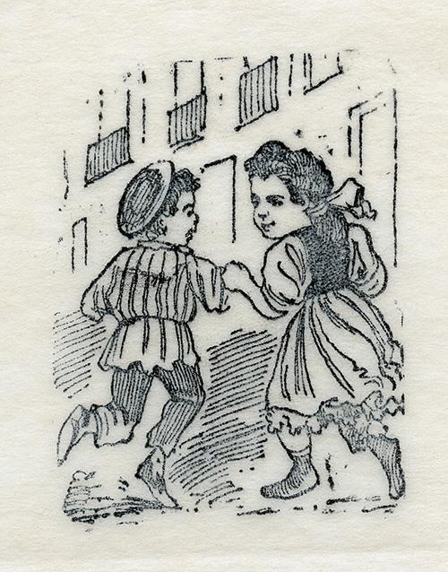 Imagen de Niño y niña en la calle