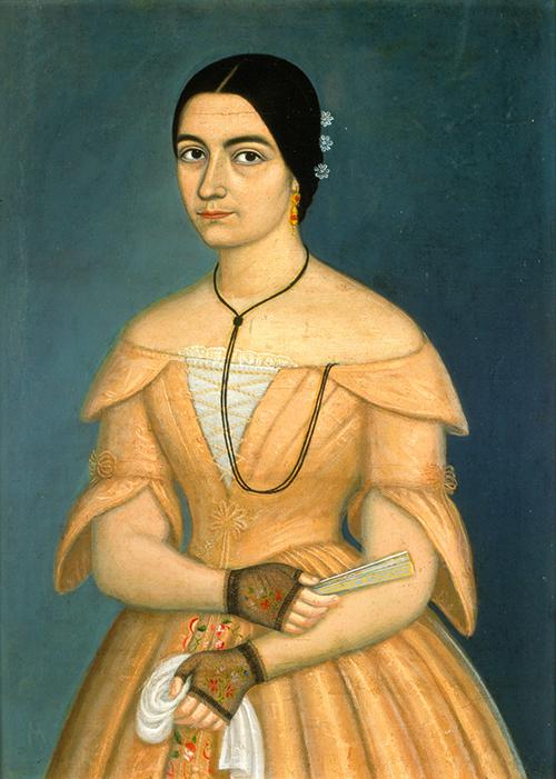 Imagen de Retrato de Dama con vestido rosado