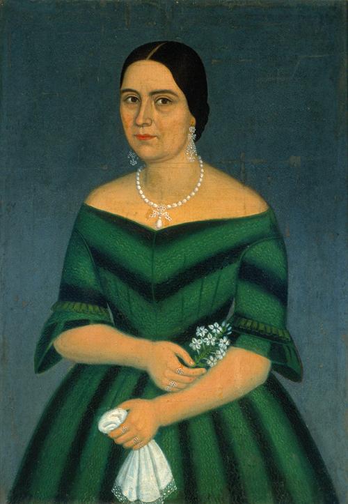 Imagen de Retrato de Dama con vestido verde