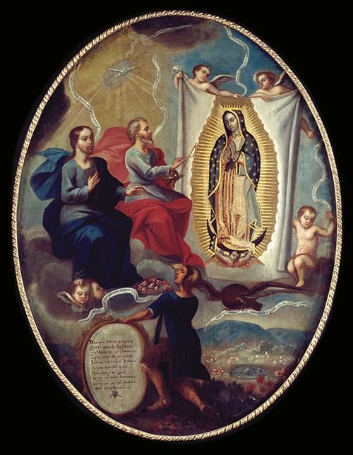 Imagen de El Padre Eterno Pintando a la Virgen de Guadalupe