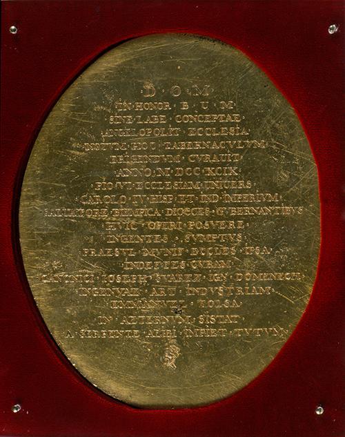 Imagen de Relieve conmemorativo del Inicio del Tabernáculo de la Catedral de Puebla