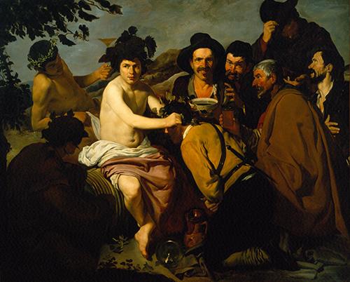 Imagen de Los Borrachos, copia de Diego Velázquez de Silva